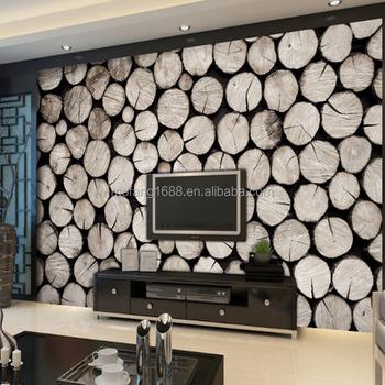 Holz Wirkung Tapete Dekoration Wohnzimmer Wände Tapete 3d