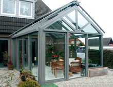 China Supplier hurricane resistant 12ft *10 ft customized garden glass sun room with bi-folding security door