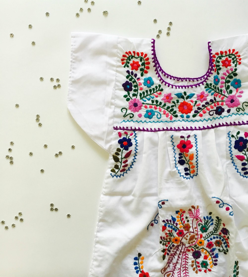 Hand Embroidery Designs For Baby Clothes | 2016 Boho Hand Embroidery Design Cotton Dress For Baby Gril Kids