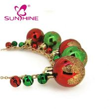 Sinshine Christmas Series Red Light Bulb Bell Christmas Pendant Necklace