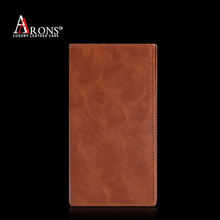 Universal genuine leather wallet case 5 inch mobile phone back cover