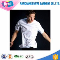 Factory direct premium cotton t shrits mens blank tee for screen printing short sleeve round neck shirts wholesale