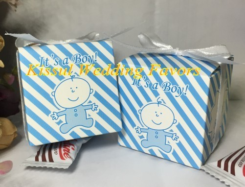 2016 Traditional baby shower candy box of Oh baby it's a boy baby boy birthday gift