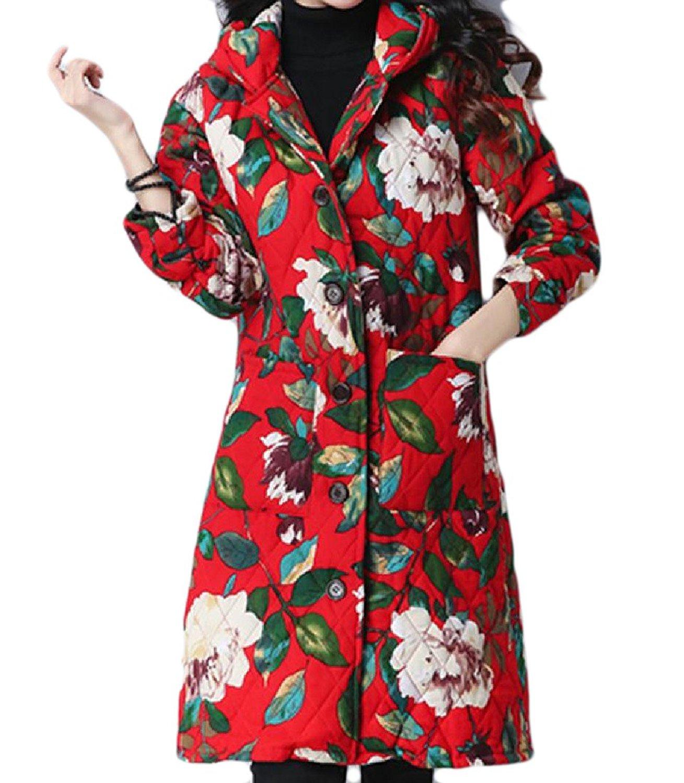 CrazyDayMen CrazyDay Mens Solid Hooded Zip Up Pockets Thick Warm Parka Coat Jacket