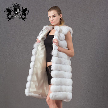 good quality thick fox fur genuine fox fur vest for women