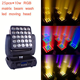 LED moving head beam 25pcsX10w RGBW 4in1 led matrix light