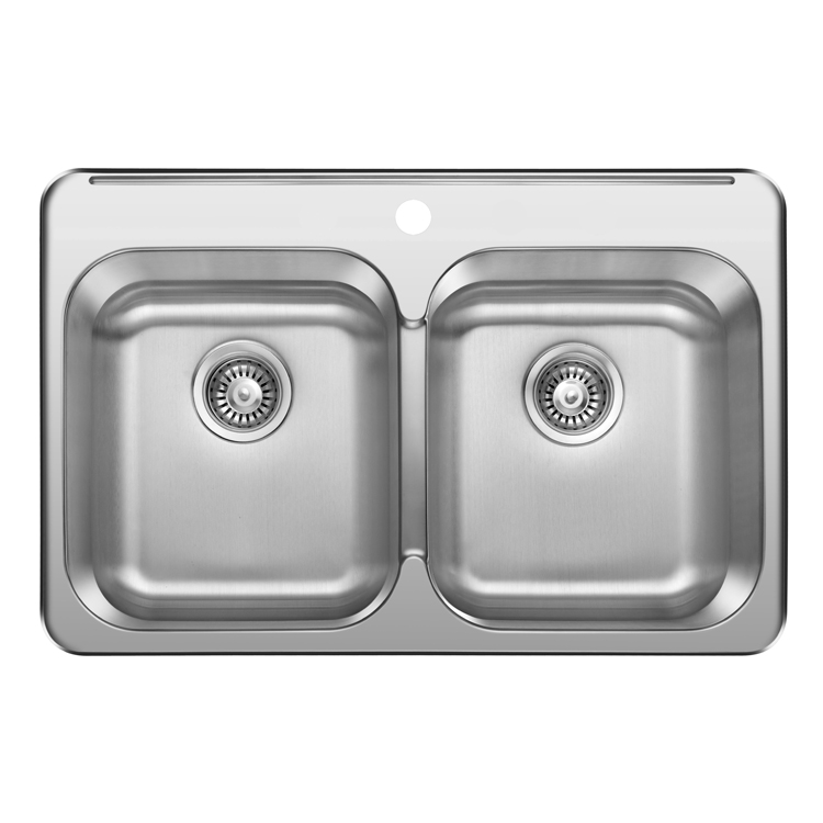 Japan Undermount Double Bowl Stainless Steel Handmade Kitchen Sink