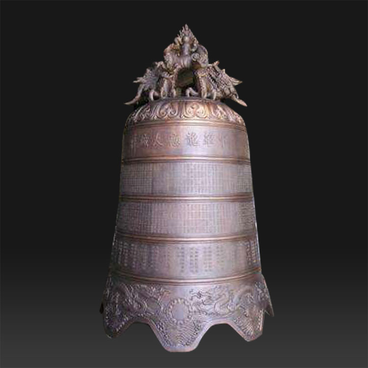 Metal sculpture different size bronze and brass church bell statue for sale