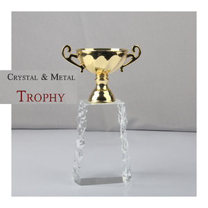 Made in china cheap custom crystal award trophy