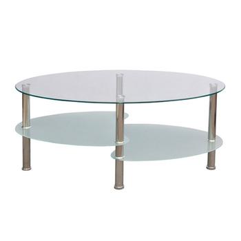 Edelstahlrohr Oval Couchtisch Aus Glas Für Verkauf Buy Oval