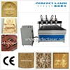 4 axis laser cnc router machin woodworking machine with cylinder rotary