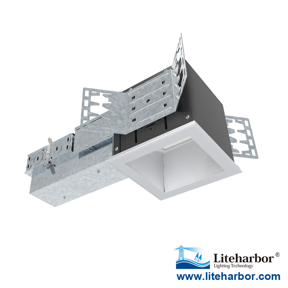 "4"" Architectural Square Recessed Downlight LED Emergency system"