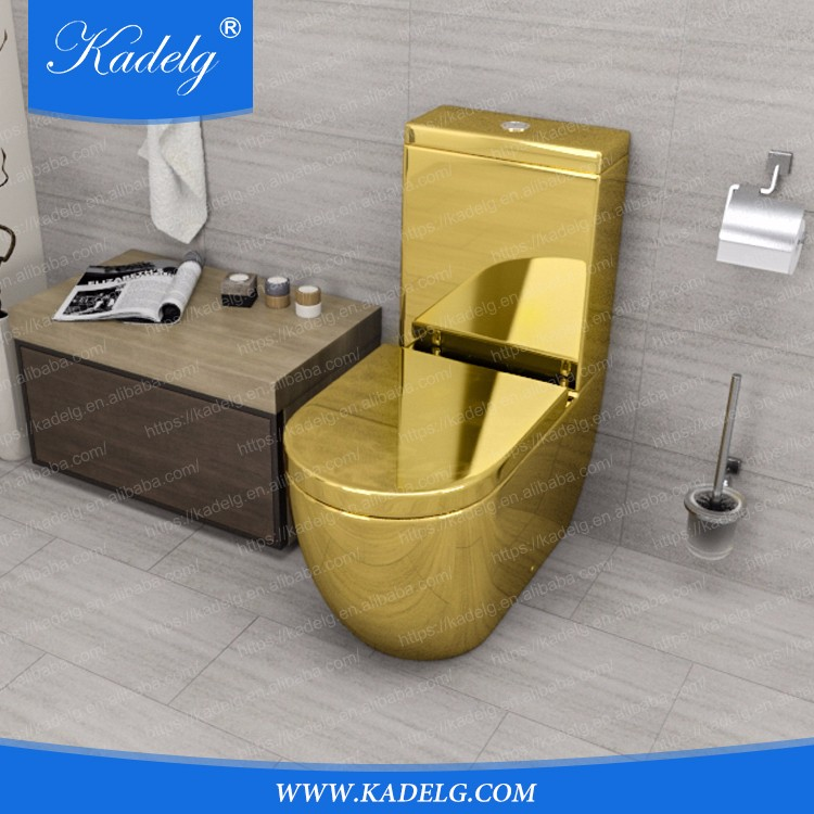 Middle East Style Luxury Design Gold Plated Two Piece Toilet  Buy