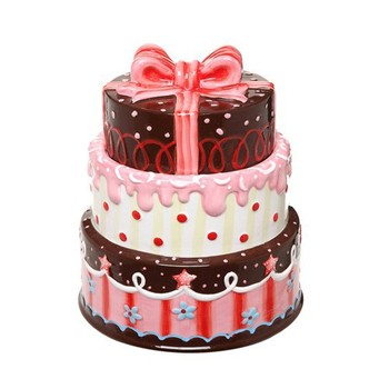Happy Birthday 3 Floor Cake Candy Unique Canister Holder Buy