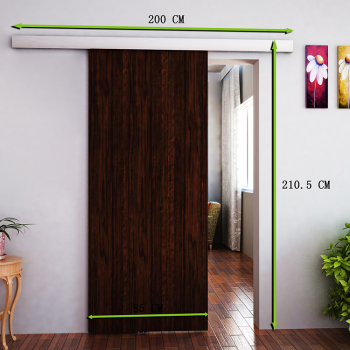 2m Sliding Barn Hardware Door Aluminum Alloy Track Home Office