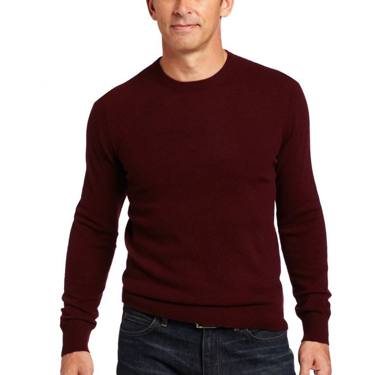 Formal classic crew neck cashmere sweater pullover for men