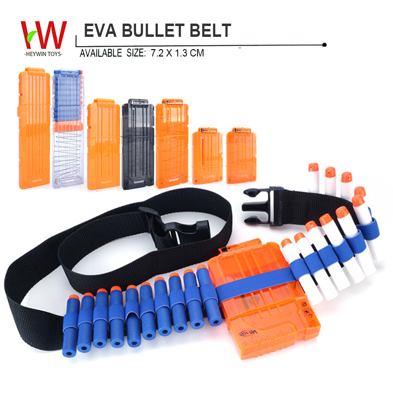 EVA bullets belt Field equipment Refill Clip Darts soft foam bullets guns outdoor toy multiplayer games (HM13)