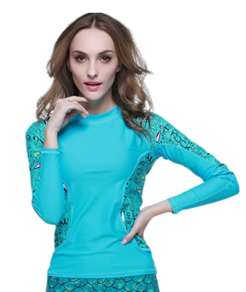 25c6531f2b1 Buy Womens Anti-UV Wetsuit Diving Suit Rash Guard sports suit for women  long sleeve swim shirts Tops tight snorkeling Swimming Suit in Cheap Price  on ...