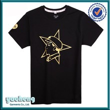 100 cotton 160 gsm t shirt/bulk t-shirt sales/skin tight mens short sleeve t shirt with gold stamping