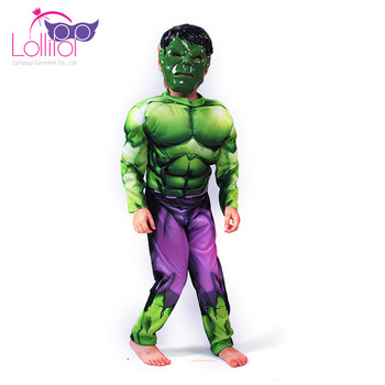 Carnival festival cosplay costume hulk for children