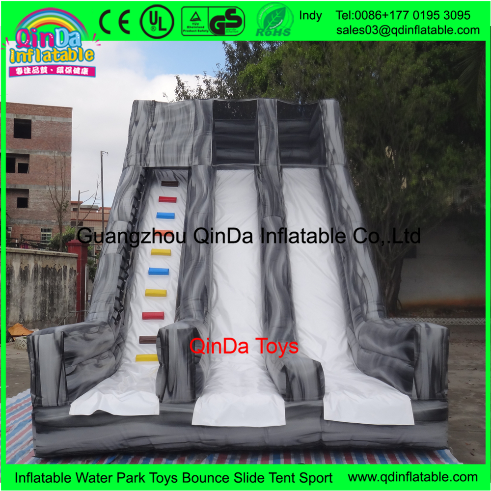 Alibaba inflatable plastic slide,Amusement park giant inflatable kids slide for playing