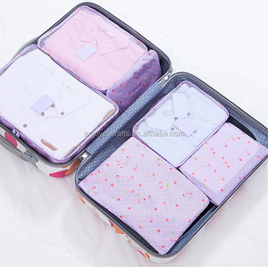 Good Quality Luggage Clothes Organizer Bag 6 Pieces Foldable Net Storage Travel Bag