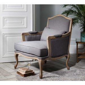 Hathaway Linen Armchair Upholstered Armchair Living Room Furniture