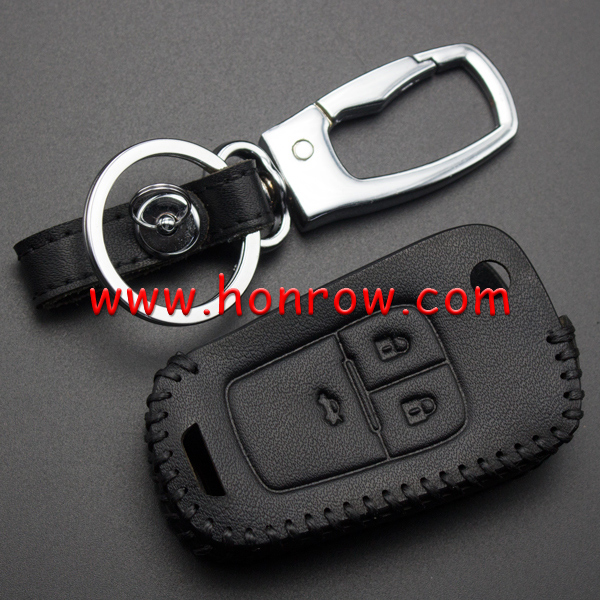 For Honrow 3+1 button key leather case used for EXCELLE Chev.Cruze.AVEO. CAPTIVA.Malibu.TRAX