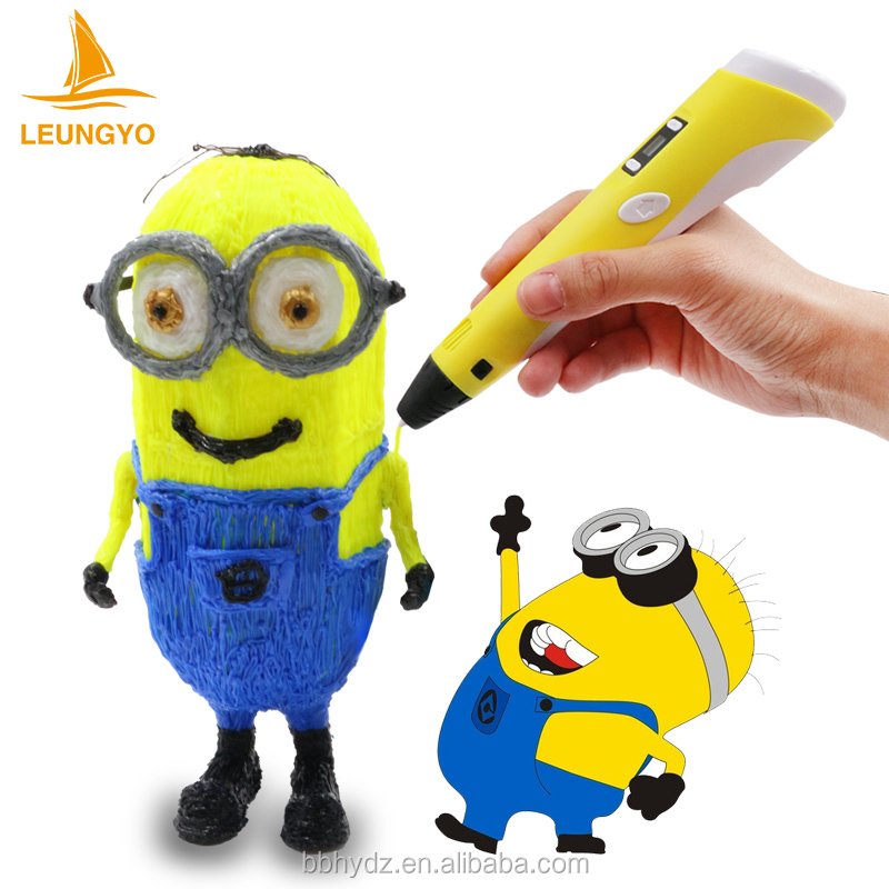 LED screen blue and green magic drawing pen 3D printing printer pen