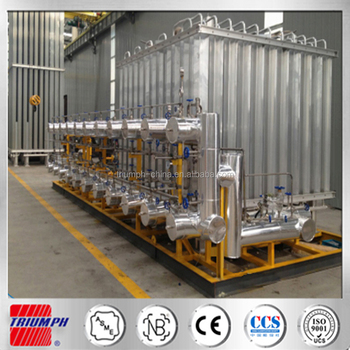 Liquid oxygen gas filling cylinder skid-mounted equipment