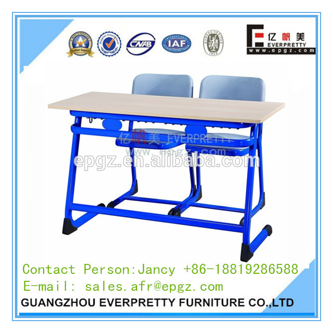 Portable plastic folding table with chairs for education centre,exam table chair