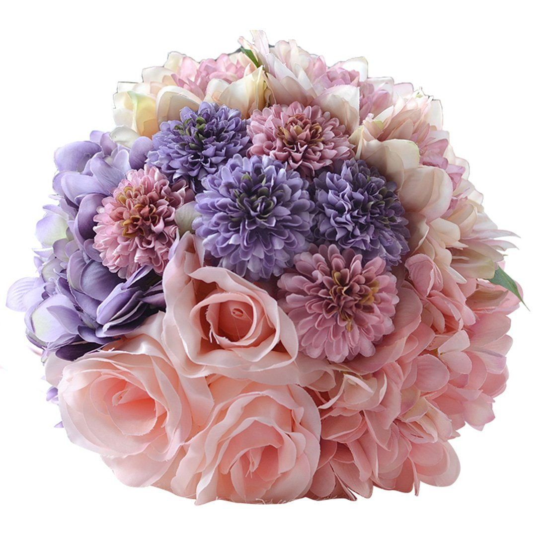 Cheap artificial silk flowers wedding bouquets find artificial silk get quotations snowskite bridal bridesmaid bouquets artificial pink rose silk flowers bouquet home wedding decoration pink izmirmasajfo