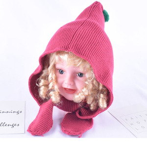 new cotton acrylic spring fall boy youth beanie bomber hat crochet baby hoodie muffler scarf hat set