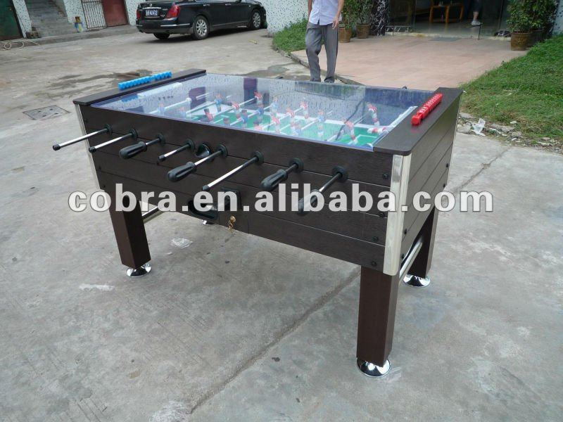 Delicieux Outdoor Coin Operated Soccer Table/ Foosball Table/kicker Game Table With  3mm Glass On Top   Buy Outside Coin Foosball Table,Wpcs Football Game Table  ...