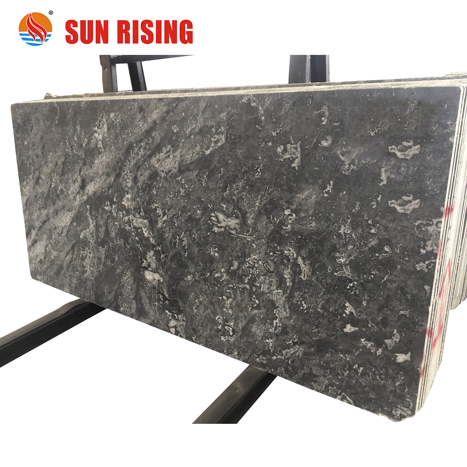 New Arrival Ocean Star Black Marble Slab For Flooring And Wall Tile