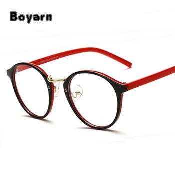 Fashion Round Eyeglasses Frames Brand Designer Men Black Circling ...