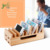 convenient High Quality Desktop Usb Charger Bamboo docking station with mobile phone