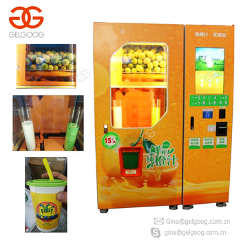 Automated Vending Coin Operated Fresh Squeezed Orange Juice Vending