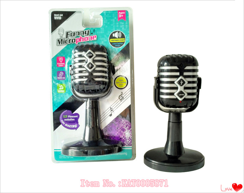 Wholesale Kids Musical Instrument Toy Mini Electric Handheld Microphone Toy For Baby Educational