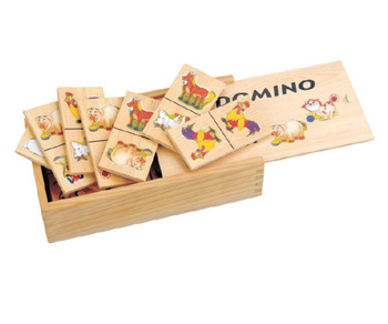 28 pcs good selling bulk-buy-from-china factory sea fish photos handmade wooden domino games in pine wood box