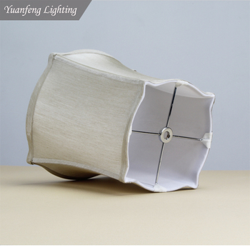 High quality table lamp decorative lighting, bed side table lamp, desk light or floor lamp square white fabric silk lampshade