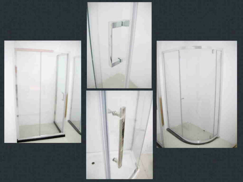 5/6/8mm tempered glass,square shower enclosure,zinc alloy wheel and handle