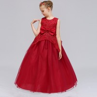 Wholesale floral baby girl clothes latest new design baby girl wedding birthday party long dresses