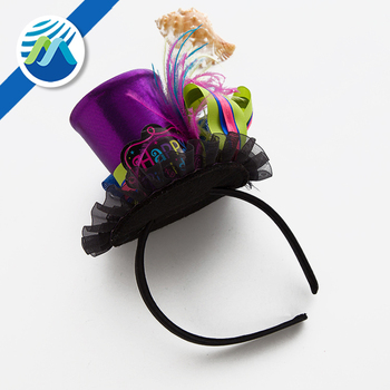 Hot Sale Carnival Party Masquerade Korean mini top hat Headband for gril 820f3a0d6c7