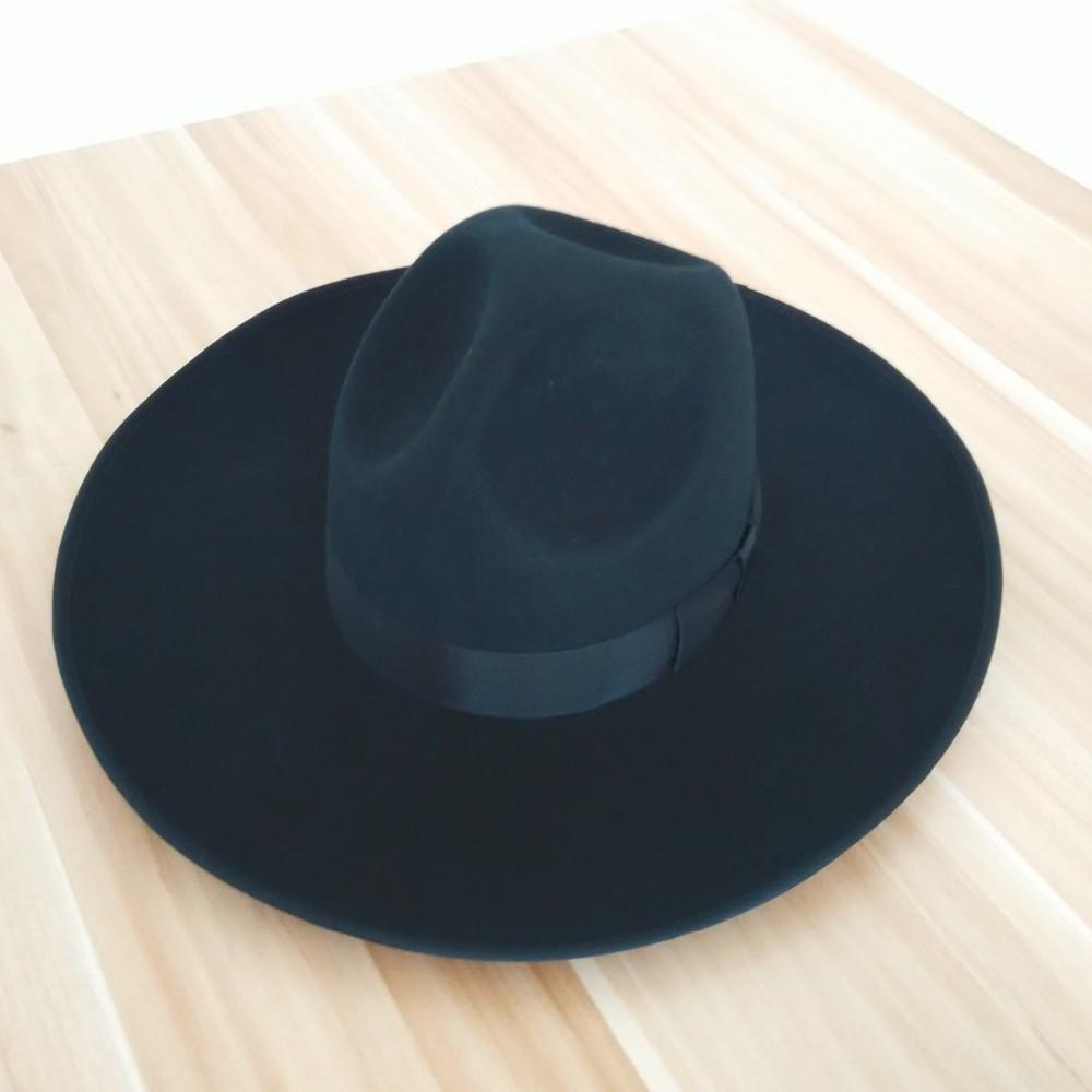 122adf97bf1 2019 Wholesale Black Jewish Hats For Men And Women Pure Australian ...