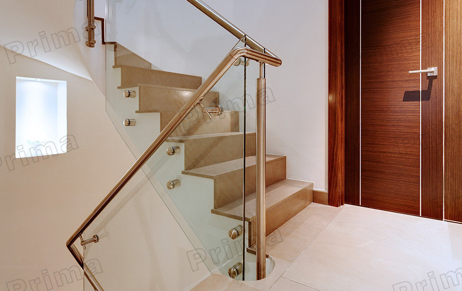 PRIMA customized tempered glass railing or stainless steel cable handrail