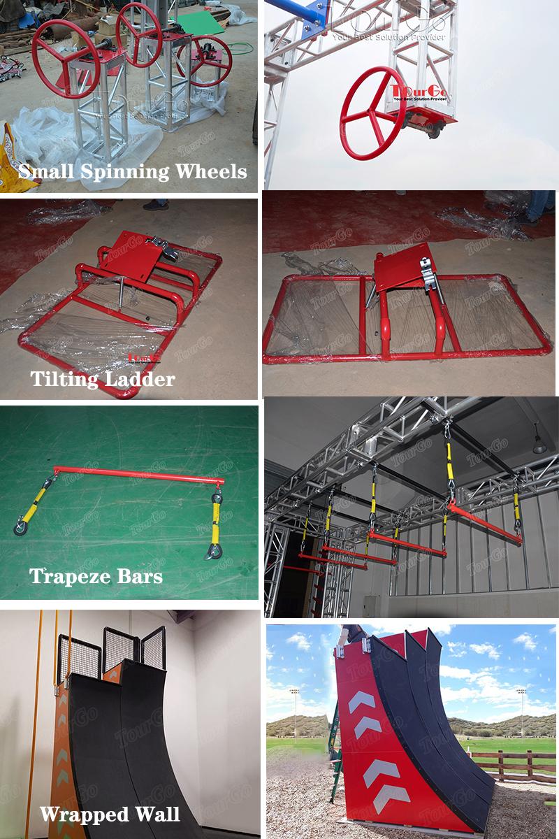 Adult Obstacle Course Ninja Warrior Park