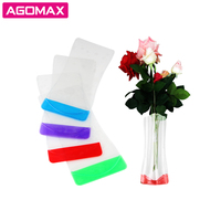 Reusable Collapsible Clear Plastic Collapsible flower vase