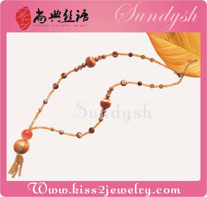 Wholesale Hand Crafted Beads Necklaces Trendy Jewellery