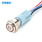 waterproof IP67 metal ring led red yellow 24v 110v 12v momentary metal push button switch with plug
